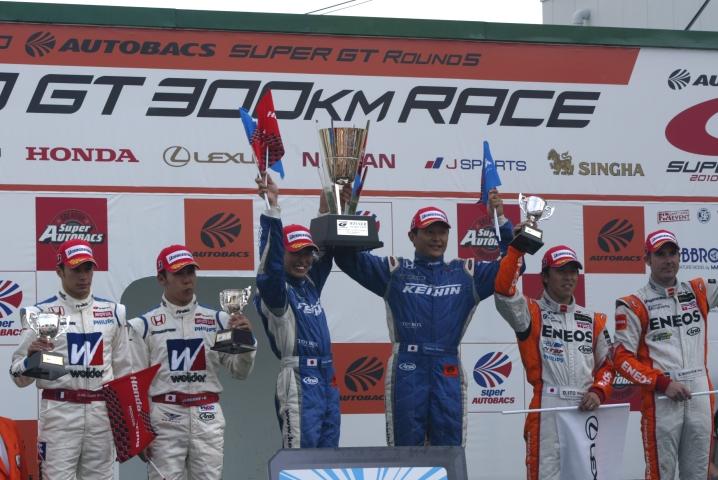GT500クラスの暫定表彰式
