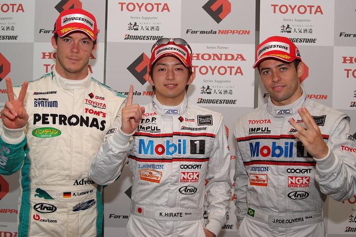 決勝記者会見: 上位3名のドライバーたち