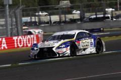 6位フィニッシュを果たし、ランキング首位を維持したアンドレア・カルダレッリ/平川亮組のKeePer TOM'S RC F 37号車