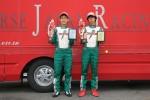 優勝 佐藤選手(右)2位武井選手(左)