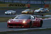 優勝した NAORYU/佐々木孝太組 フェラーリ458Italia GT3