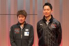 スーパー耐久ST-Xクラスに参戦する近藤真彦監督(左)と藤井誠暢(右)(スリーボンド日産自動車大学校GT-R)