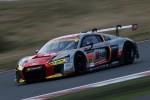 GT300クラス2位のリチャード・ライアン/藤井誠暢組(Hitotsuyama Audi R8 LMS)