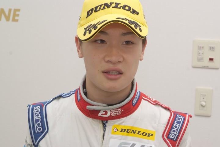 決勝2位の阪口晴南(Hondaフォーミュラ・ドリーム・プロジェクト)