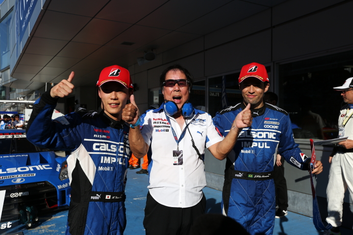 決勝レース: GT500クラスで優勝した安田裕信/ジョアオ・パオロ・デ・オリベイラ組(TEAM IMPUL)