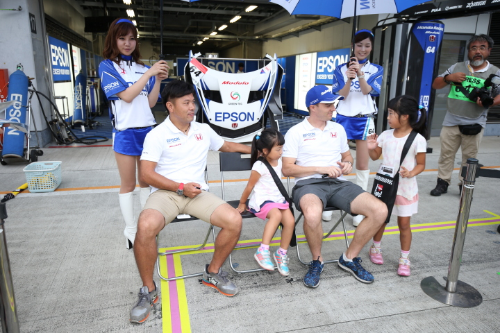 GTキッズウォーク: 松浦孝亮とベルトラン・バゲット(NAKAJIMA RACING)
