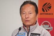 2017年度GT500クラスチームチャンピオンを獲得した関谷正徳監督(LEXUS TEAM KeePer TOM\'S)