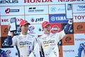 表彰式: GT500クラスで優勝した平川亮とニック・キャシディ(LEXUS TEAM KeePer TOM\'S)