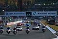 決勝レース: 栃木県警交通機動隊の先導でパレードラップが始まった