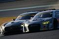 決勝レース: 平中克幸(GAINER TANAX AMG GT3)と柳田真孝(Hitotsuyama Audi R8 LMS)の争い