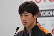 2017年度チームチャンピオンを獲得した立川祐路監督(P.MU/CERUMO · INGING)