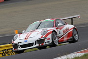 ST-1クラスポールポジションは小川勝人/影山正美/富田竜一郎組(Nissoku Porsche991 GT3 Cup)
