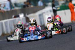 13番グリットからファステストラップで追い上げ3位を獲得の西田光来選手(ナガオカート)