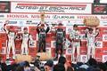 表彰式: GT300クラスのトップ3チーム