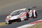 GT300クラスポールポジションの平峰一貴/マルコ・マッペリ組(マネパ ランボルギーニ GT3)