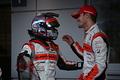 決勝レース: GT300クラスで優勝した髙木真一とショーン・ウォーキンショー( AUTOBACS RACING TEAM AGURI)