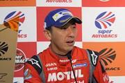 決勝記者会見: GT500クラス優勝の松田次生(NISMO)