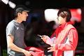 ピットウォーク: 山田真之亮(Team TAISAN)と富田竜一郎(Audi Team Hitotsuyama)