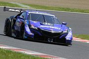 GT500クラス予選2位の山本尚貴/ジェンソン・バトン組(RAYBRIG NSX-GT)