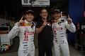 公式予選: ポールポジションを獲得した中嶋大祐と武藤英紀(TEAM MUGEN)
