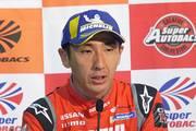 予選記者会見: GT500クラスポールポジションの松田次生(NISMO)