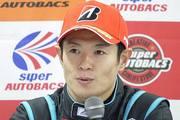 決勝記者会見: GT500クラス優勝の山本尚貴(TEAM KUNIMITSU)
