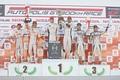 表彰式: GT500クラスのトップ3チーム