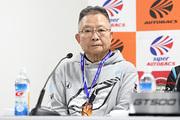 チャンピオン記者会見: GT500クラスチャンピオンの高橋国光監督(TEAM KUNIMITSU)