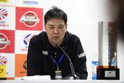 チャンピオン記者会見: GT300クラスチャンピオンの溝田唯司監督(K2 R&D LEON RACING)