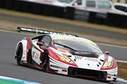 GT300クラスポールポジションの平峰一貴/マルコ・マペッリ組(マネパ ランボルギーニ GT3)