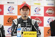 チャンピオン記者会見: GT300クラスチャンピオンの蒲生尚弥(K2 R&D LEON RACING)