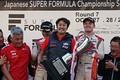 表彰式: チームチャンピオンを獲得したコンドーレーシングの近藤真彦監督