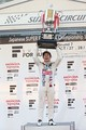 表彰式: ドライバーズチャンピオンを獲得した山本尚貴(TEAM MUGEN)