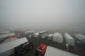 フリー走行: 決勝日、オートポリスは早朝より雲の中。視界不良で走行はキャンセルされた