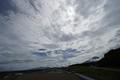 スタート進行: 曇り空の隙間から晴れ間が