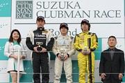 表彰式: 優勝・岡本大地、2位・吉田宣弘、3位・徳升広平