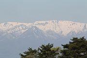 早朝からSUGOは晴れ渡り蔵王連峰もくっきり