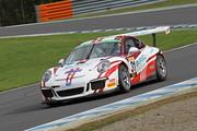 ST-1クラスポールポジションのT.スターク/影山正美/上村優太組(Porsche 991GT3 Cup)