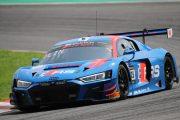優勝したドリス・バンスール/ケルビン・ファン・デル・リンデ/フレディック・ヴェルビッシェ組(Audi Sport Team WRT)