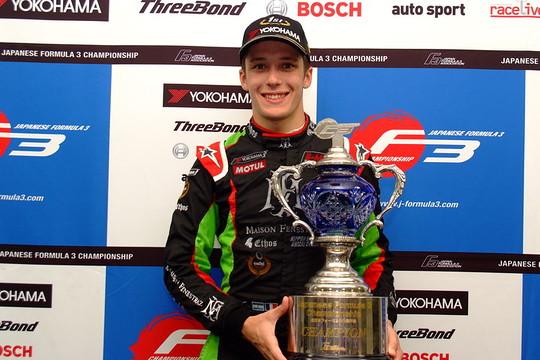 2019年全日本F3チャンピオンのサッシャ・フェネストラズ(B-Max Racing with motopark)