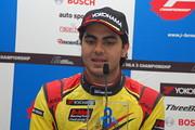 決勝記者会見: 3位のエナム・アーメド(B-Max Racing with motopark)