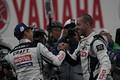 決勝レース: GT500クラスで優勝した平手晃平とフレデリック・マコヴィッキィ(NDDP RACING with B-MAX)
