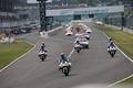 決勝レース: 三重県警によるパレードラップ