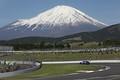 公式練習: 晴れ渡った空に富士山も顔を出した