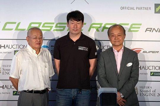 BHJ、GTA共同記者会見: 左からGTA社長・板東正明氏、BHJ CEO・武井真司氏、モビリティランド社長・山下晋氏