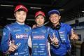 公式予選: GT500クラスポールシッターの山下健太、大嶋和也、脇阪寿一監督(LEXUS TEAM LEMANS WAKO\'S)
