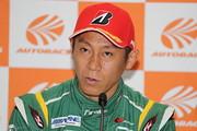 決勝記者会見: GT300クラスポールポジションの脇阪薫一(埼玉トヨペット Green Brave)