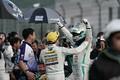決勝レース: GT300クラスで優勝した宮田莉朋と吉本大樹(LM corsa)