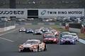 決勝レース: GT500クラスのスタートシーン