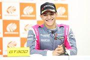 予選記者会見: GT300クラスポールポジションのアレックス・パロウ(McLaren Customer Racing Japan)